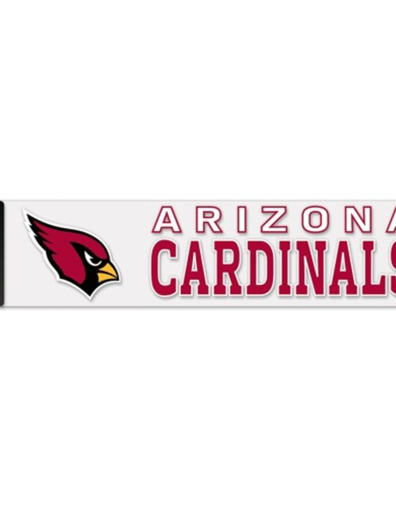 """WINCRAFT Arizona Cardinals 4""""x17"""" Perfect Cut Decals"""