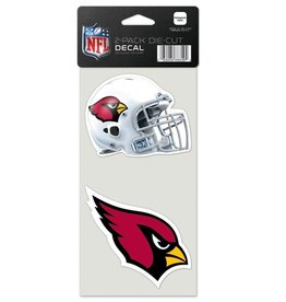 Arizona Cardinals Set of Two 4x4 Perfect Cut Decals
