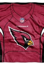 "Arizona Cardinals 50in x 60in NFL ""Jersey"" Royal Plush Raschel Throw"