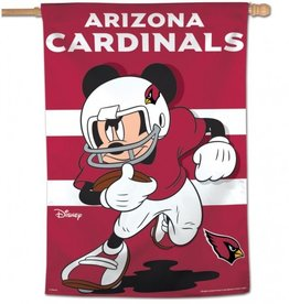 "WINCRAFT Arizona Cardinals Disney Mickey Mouse 28"" x 40"" House Flag"