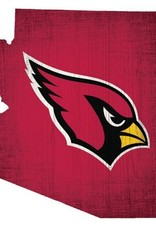 FAN CREATIONS Arizona Cardinals Team Logo State Sign