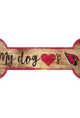 FAN CREATIONS Arizona Cardinals Dog Bone Sign