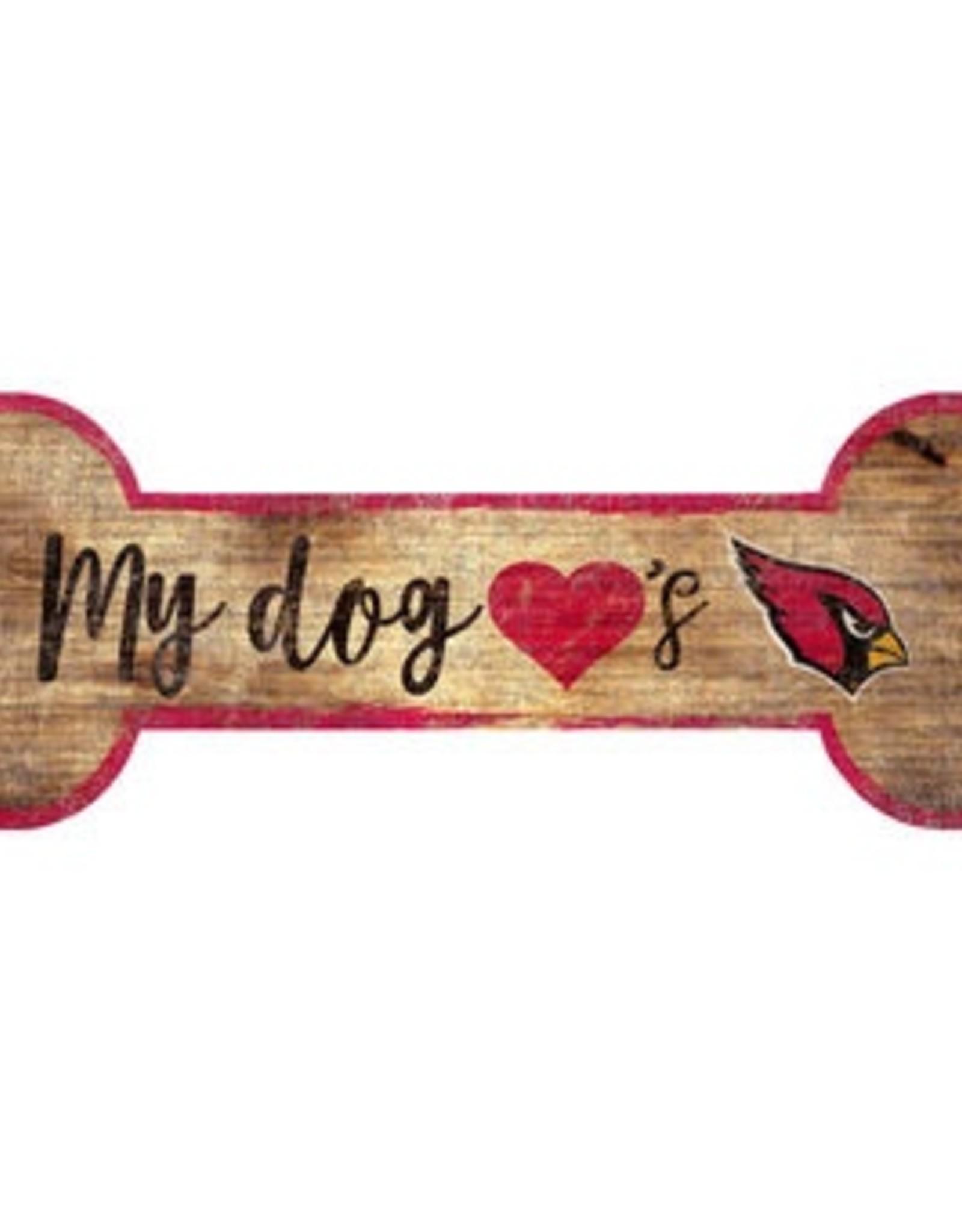 FAN CREATIONS Arizona Cardinals Dog Bone Wood Sign
