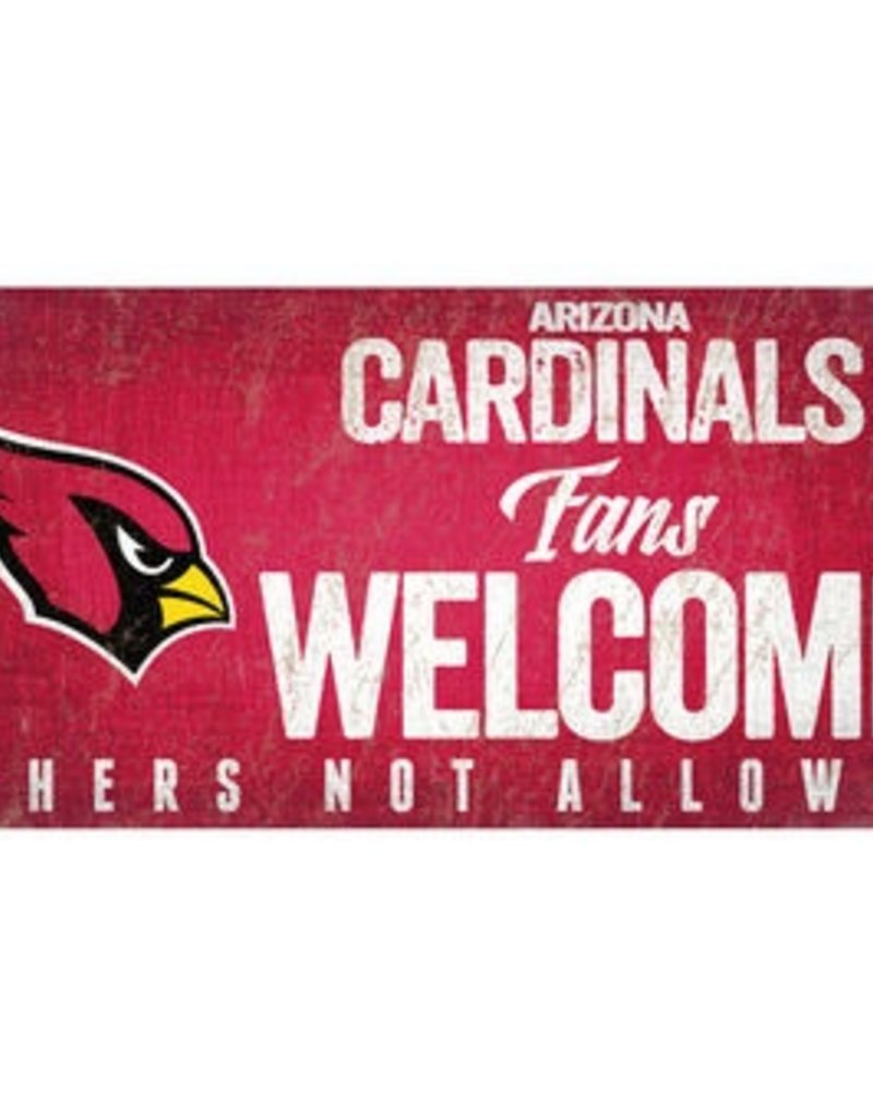 FAN CREATIONS Arizona Cardinals Fans Welcome Sign