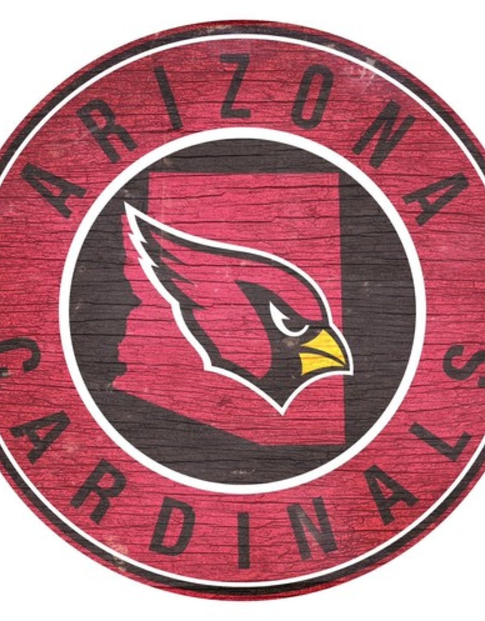 FAN CREATIONS Arizona Cardinals Round State Sign