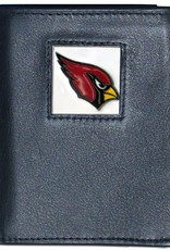 SISKIYOU GIFTS Arizona Cardinals Executive Black Leather Trifold Wallet