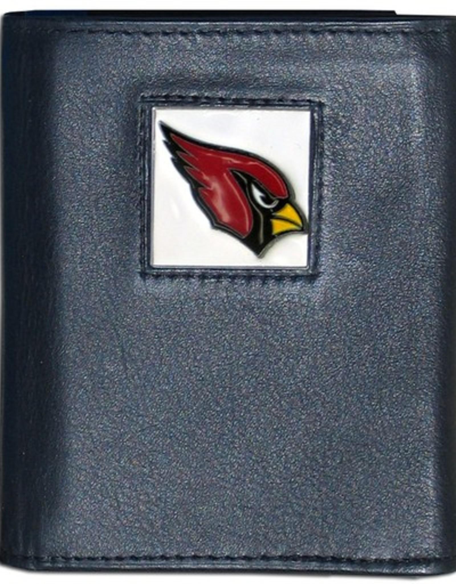 SISKIYOU GIFTS Arizona Cardinals Executive Black Leather Trifold Wallet