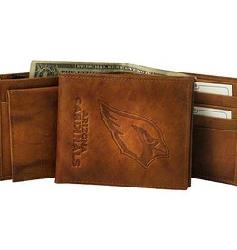RICO INDUSTRIES Arizona Cardinals Genuine Leather Vintage Billfold Wallet