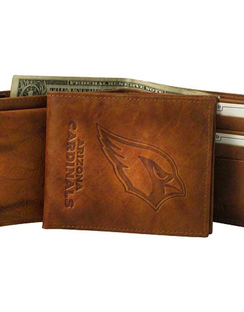 RICO INDUSTRIES Arizona Cardinals Genuine Leather Vintage Billfold Wallet