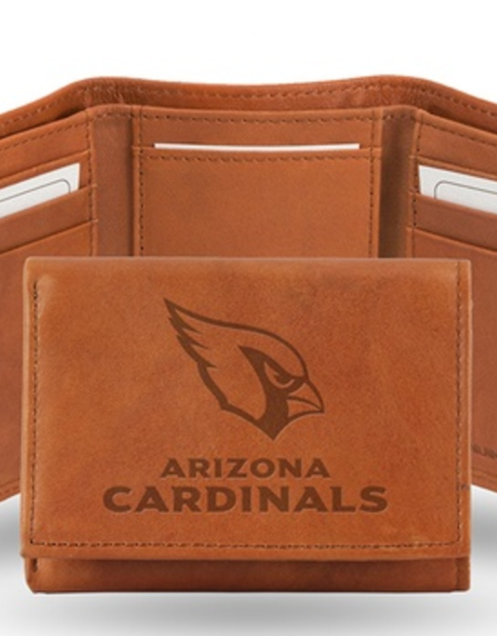 RICO INDUSTRIES Arizona Cardinals Genuine Leather Vintage Trifold Wallet
