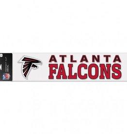 """WINCRAFT Atlanta Falcons 4""""x17"""" Perfect Cut Decals"""