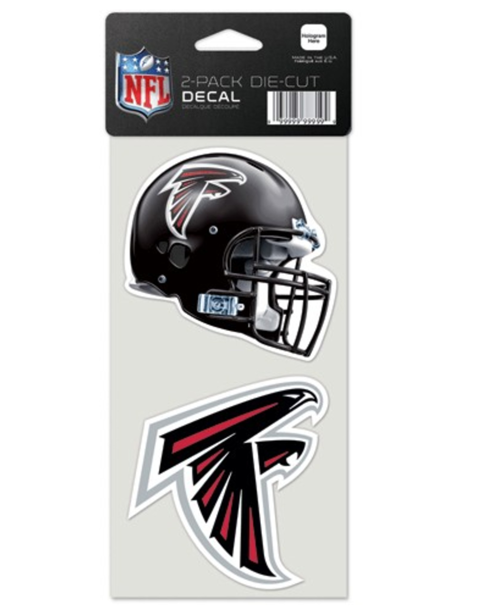 Atlanta Falcons Set of Two 4x4 Perfect Cut Decals