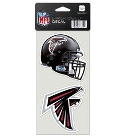 Atlanta Falcons Set of Two 4x4 Perfect Cut Decals