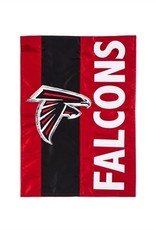 "EVERGREEN Atlanta Falcons 28"" x 44"" Striped House Flag"