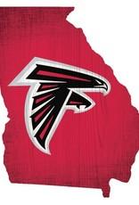 FAN CREATIONS Atlanta Falcons Team Logo State Sign
