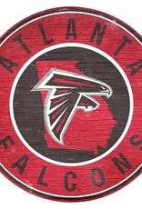 FAN CREATIONS Atlanta Falcons Round State Sign