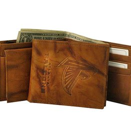 RICO INDUSTRIES Atlanta Falcons Genuine Leather Vintage Billfold Wallet