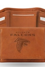 RICO INDUSTRIES Atlanta Falcons Genuine Leather Vintage Trifold Wallet