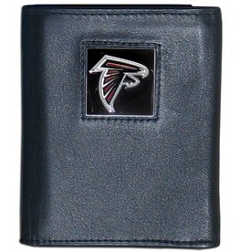 Atlanta Falcons Executive Black Leather Trifold Wallet