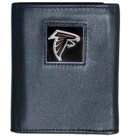 SISKIYOU GIFTS Atlanta Falcons Executive Black Leather Trifold Wallet