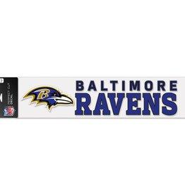 "WINCRAFT Baltimore Ravens 4""x17"" Perfect Cut Decals"