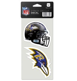 Baltimore Ravens Set of Two 4x4 Perfect Cut Decals
