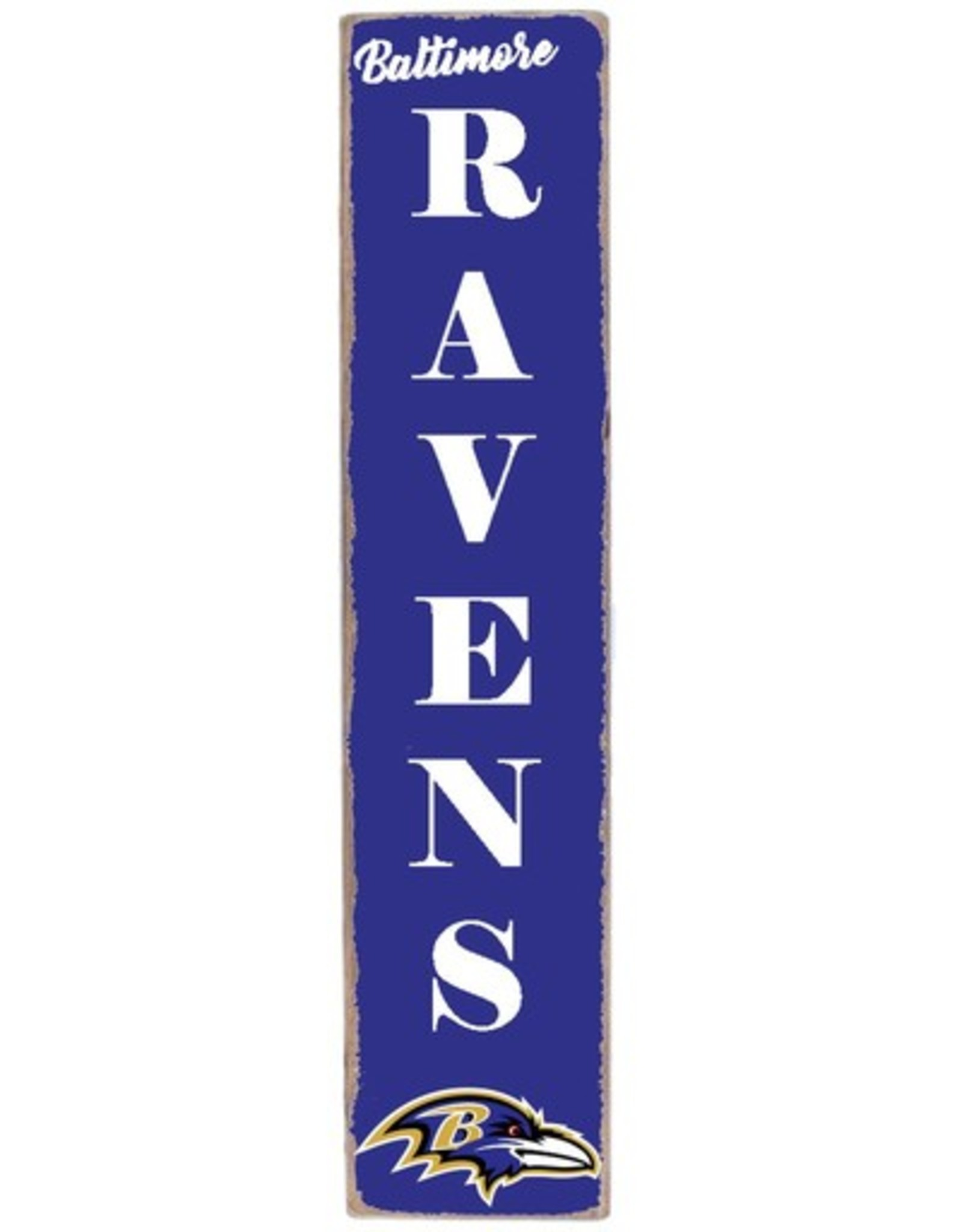 RUSTIC MARLIN Baltimore Ravens Vertical Rustic Sign