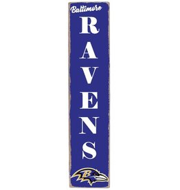 RUSTIC MARLIN Baltimore Ravens Vertical Rustic Sign