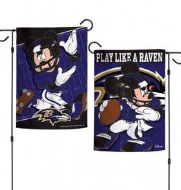 """WINCRAFT Baltimore Ravens Disney Mickey Mouse 12.5"""" x 18"""" Garden Flag"""