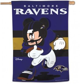 "WINCRAFT Baltimore Ravens Disney Mickey Mouse 28"" x 40"" House Flag"