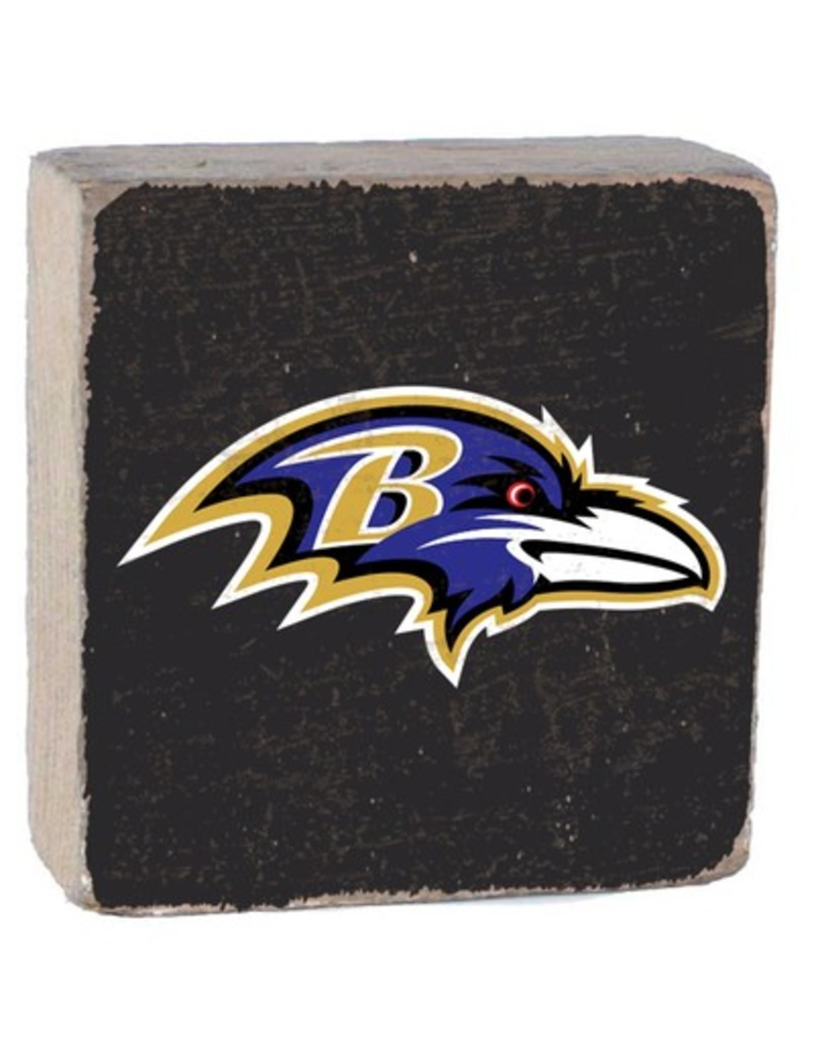 RUSTIC MARLIN Baltimore Ravens Rustic Wood Team Block