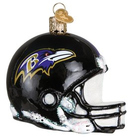 OLD WORLD CHRISTMAS Baltimore Ravens Helmet Ornament
