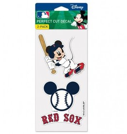 WINCRAFT Boston Red Sox Set of Two DISNEY 4x4 Perfect Cut Decals