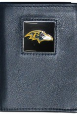 Baltimore Ravens Executive Black Leather Trifold Wallet