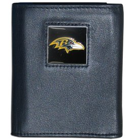 Baltimore Ravens Executive Black Leather Trifold Wallet