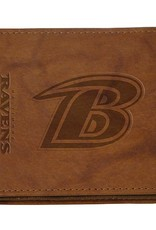 RICO INDUSTRIES Baltimore Ravens Genuine Leather Vintage Billfold Wallet