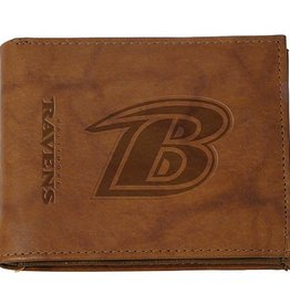 RICO INDUSTRIES Baltimore Ravens Genuine Leather Vintage Billfold Wallet