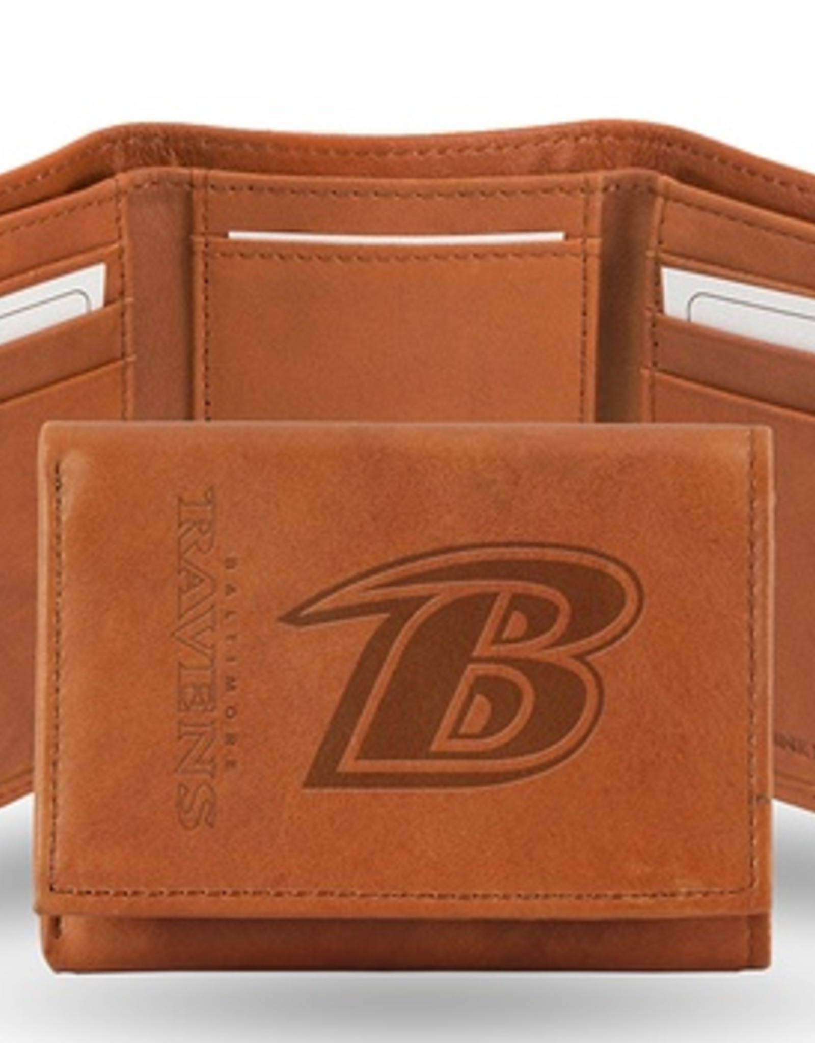 RICO INDUSTRIES Baltimore Ravens Genuine Leather Vintage Trifold Wallet