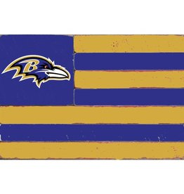 RUSTIC MARLIN Baltimore Ravens Rustic Team Flag