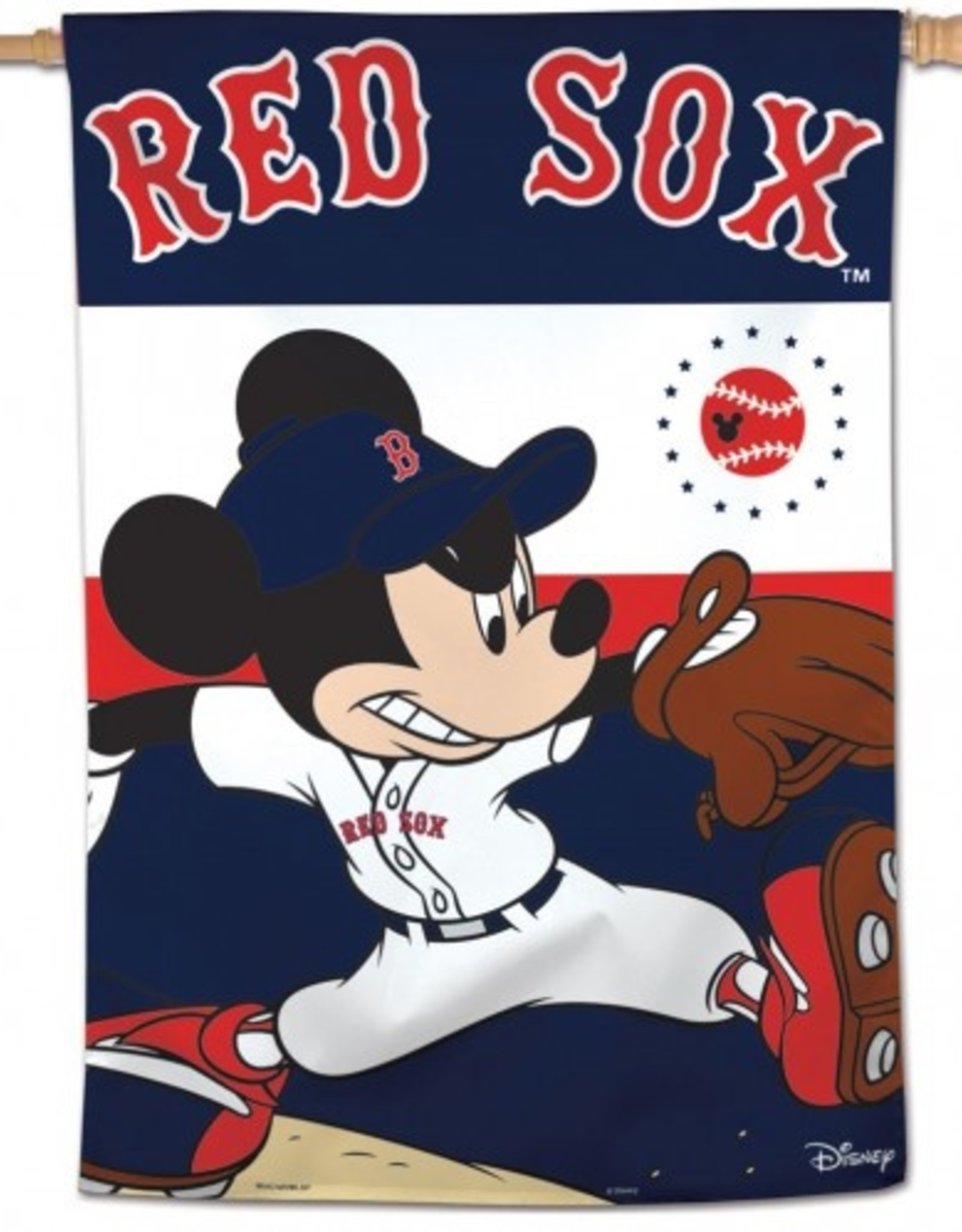 """WINCRAFT Boston Red Sox Disney Mickey Mouse 28"""" x 40"""" House Flag"""