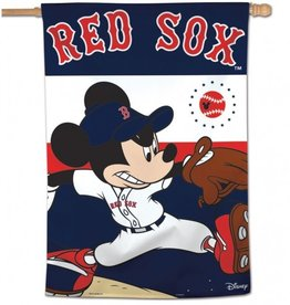"WINCRAFT Boston Red Sox Disney Mickey Mouse 28"" x 40"" House Flag"