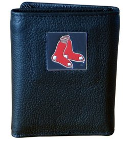 Boston Red Sox Executive Black Leather Trifold Wallet