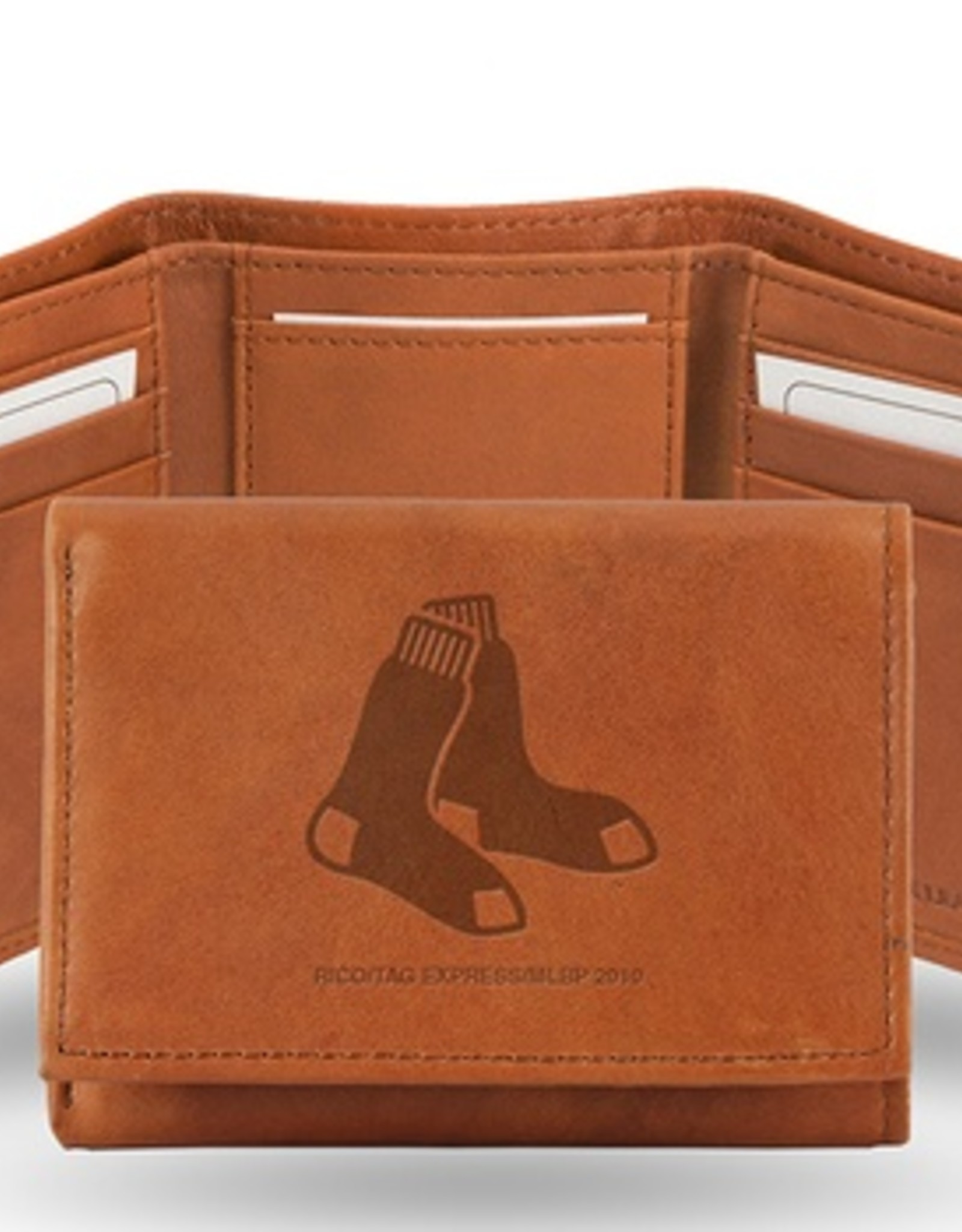 RICO INDUSTRIES Boston Red Sox Genuine Leather Vintage Trifold Wallet