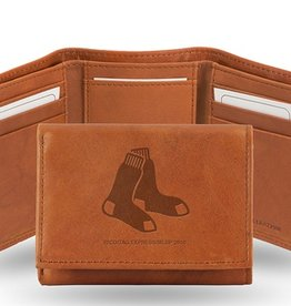 Boston Red Sox Genuine Leather Vintage Trifold Wallet