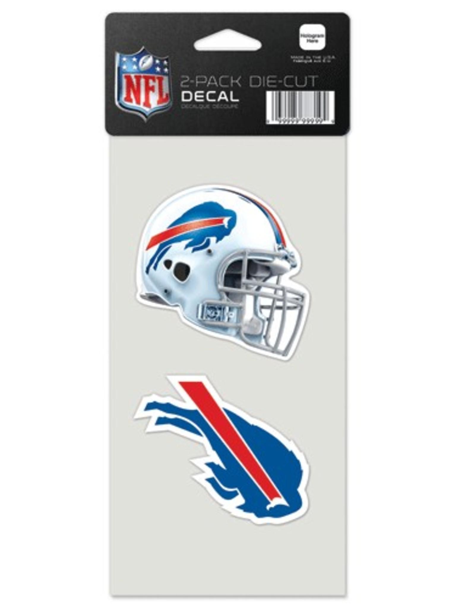 Buffalo Bills Set of Two 4x4 Perfect Cut Decals