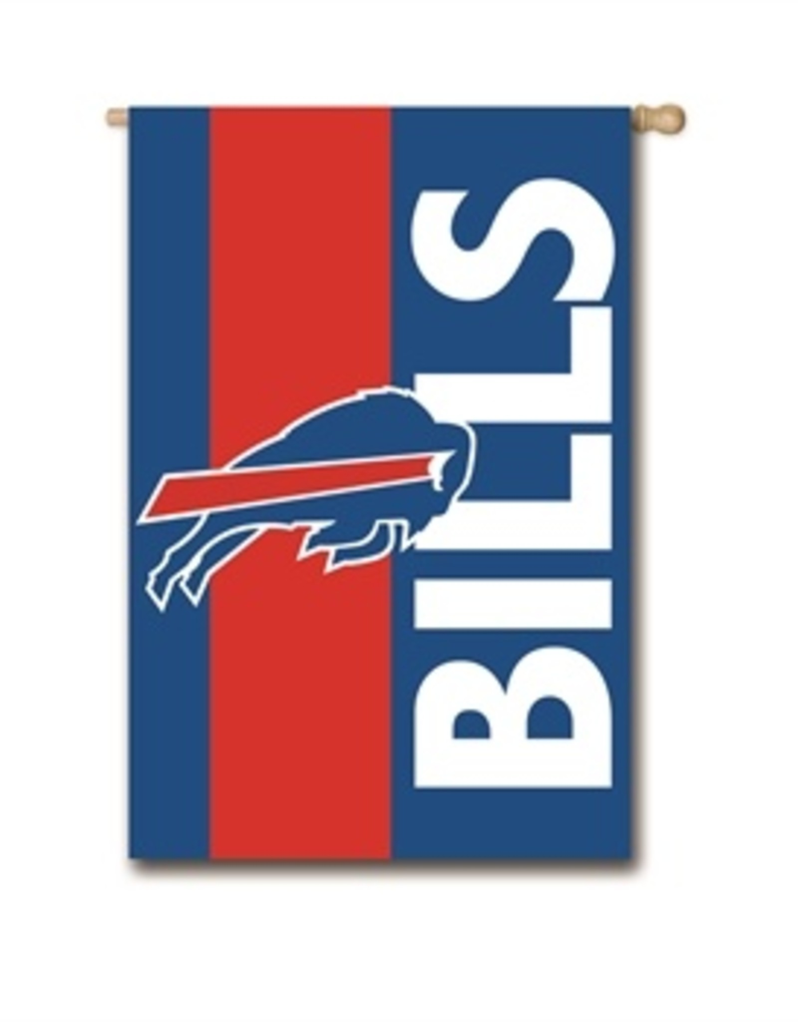 "EVERGREEN Buffalo Bills 28"" x 44"" Striped House Flag"