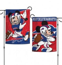 "WINCRAFT Buffalo Bills Disney Mickey Mouse 12.5"" x 18"" Garden Flag"