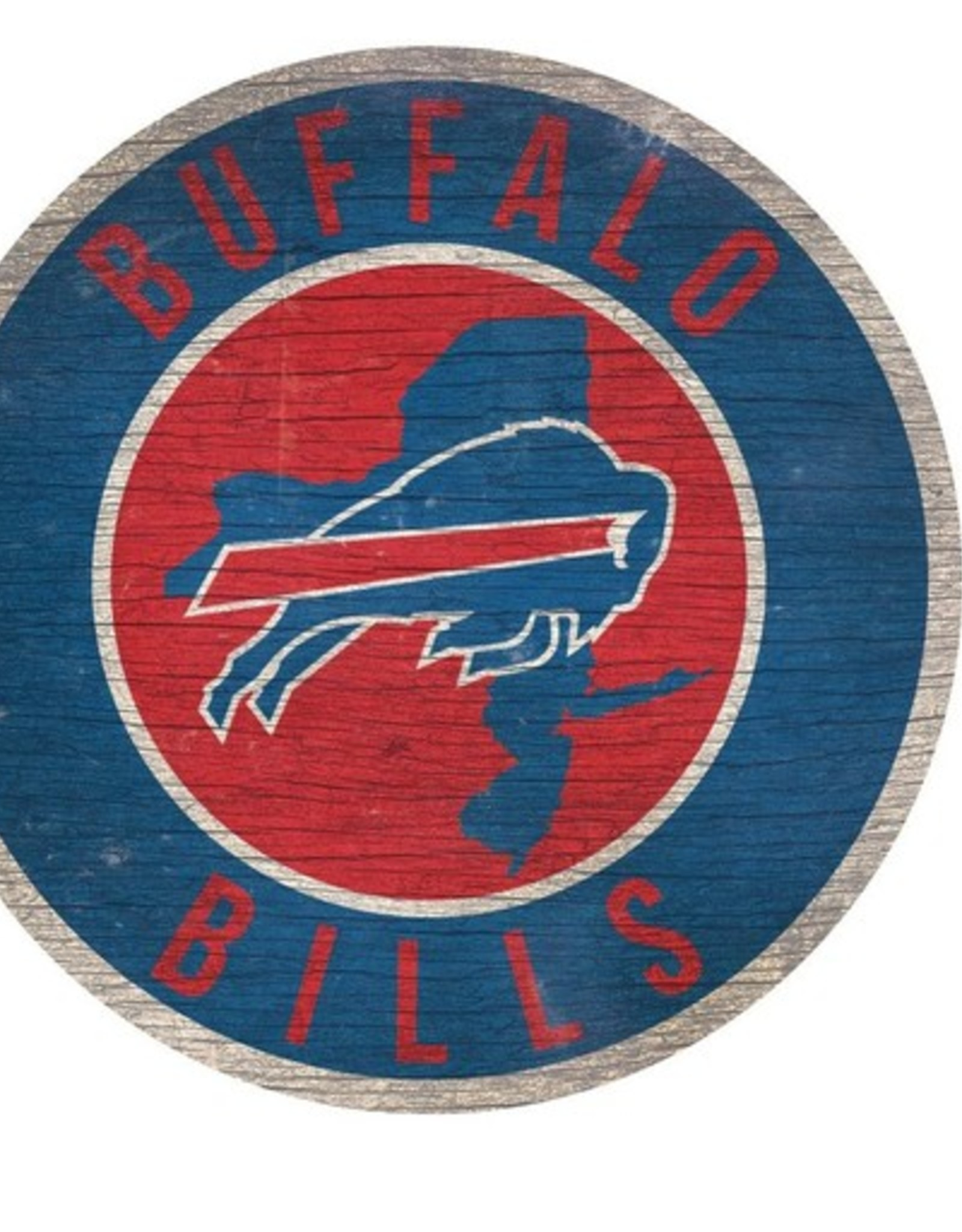 FAN CREATIONS Buffalo Bills Round State Sign