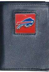 SISKIYOU GIFTS Buffalo Bills Executive Black Leather Trifold Wallet