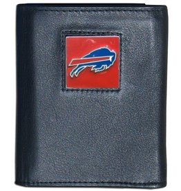 Buffalo Bills Executive Black Leather Trifold Wallet